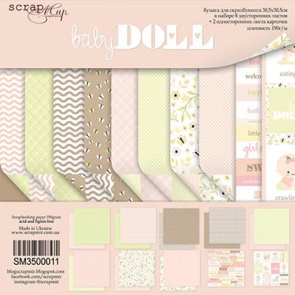 Zestaw papierów do tworzenia kartek i scrapbookingu  - Scrap Mir - Baby Doll
