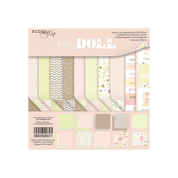 Zestaw papierów do tworzenia kartek i scrapbookingu - ScrapMir - Baby Doll