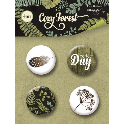 Selfadhesive buttons/badge - Scrap Mir - Cozy Forest