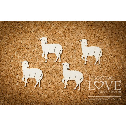 Laser LOVE - Cardboard -Lamb - 6 pcs. - Happy Easter