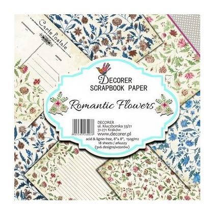 Decorer - Set of scrapbooking papers - Romantic Flowers