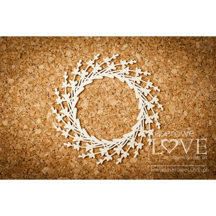 Laser LOVE - Cardboard - wreath - Sweet Lavender