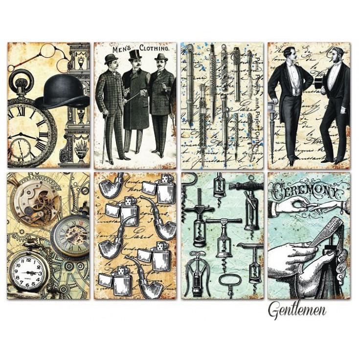 Decorer - Set of mini scrapbooking papers - Gentelmen