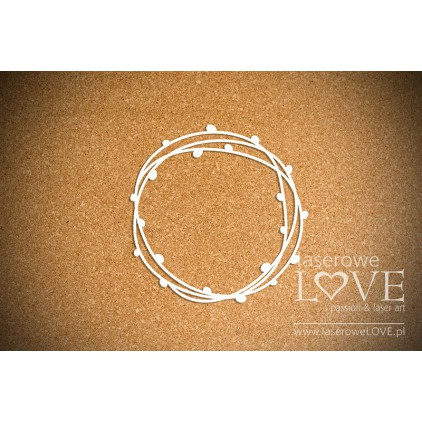 Laser LOVE - Cardboard - Wreath with catkins- Happy Easter