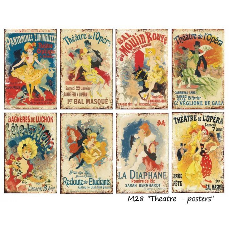 Decorer - Zestaw mini papierów do scrapbookingu - Theater-posters