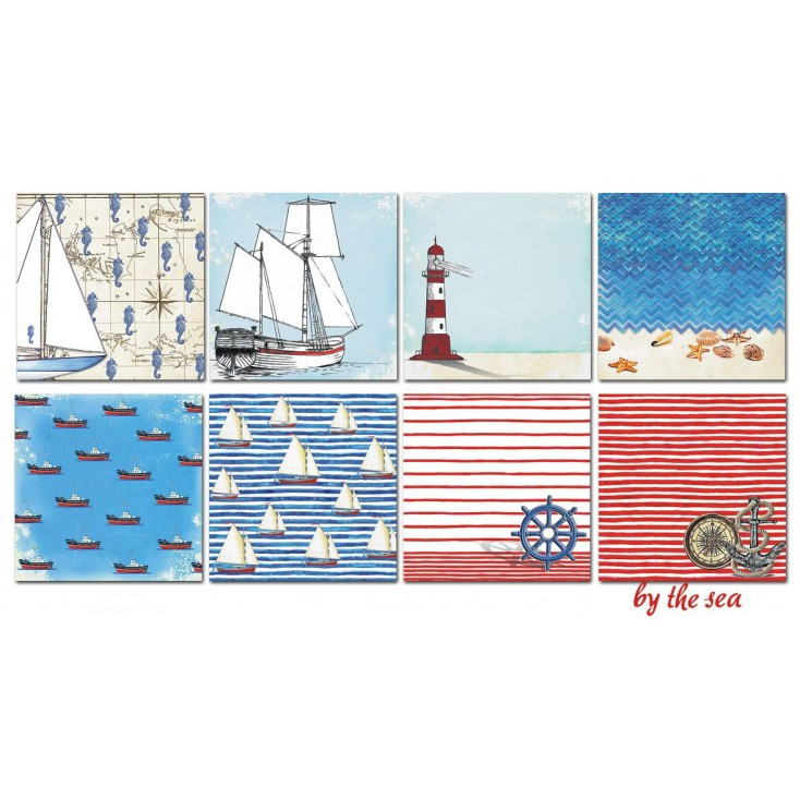 Decorer - Set of scrapbooking papers - By the sea