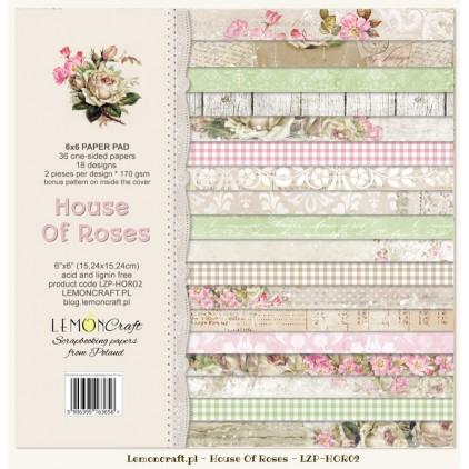 Mały bloczek papierów do scrapbookingu - Dom Róż