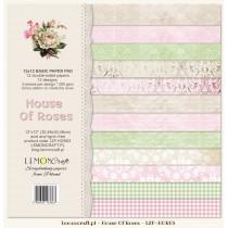 Bloczek papierów bazowych do scrapbookingu - Dom Róż
