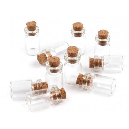Glass mini bottle - 1 pcs.