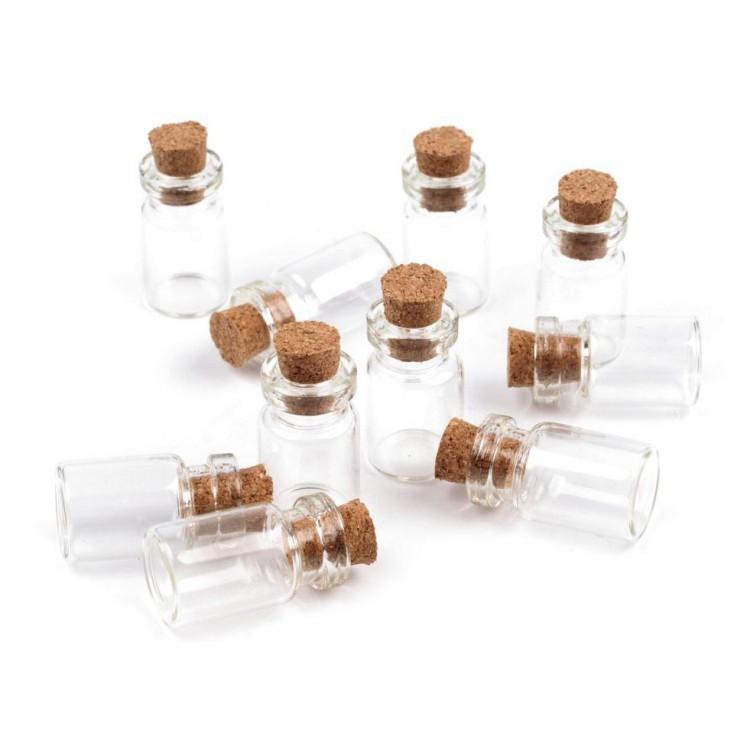 Szklana mini buteleczka - 1 szt.