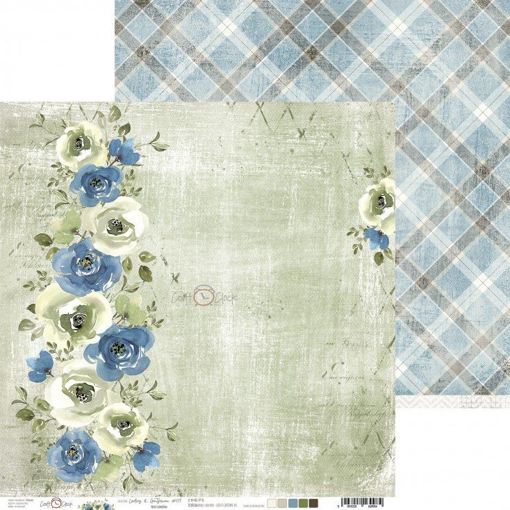 Papier do tworzenia kartek i scrapbookingu - Craft O Clock - Ladies and Gentleman - 01