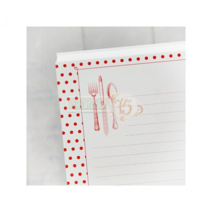 notebook insert - Studio 75 - red dots