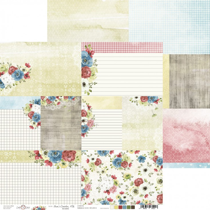 Scrapbooking paper - Craft O Clock - Mom's Garden - 06