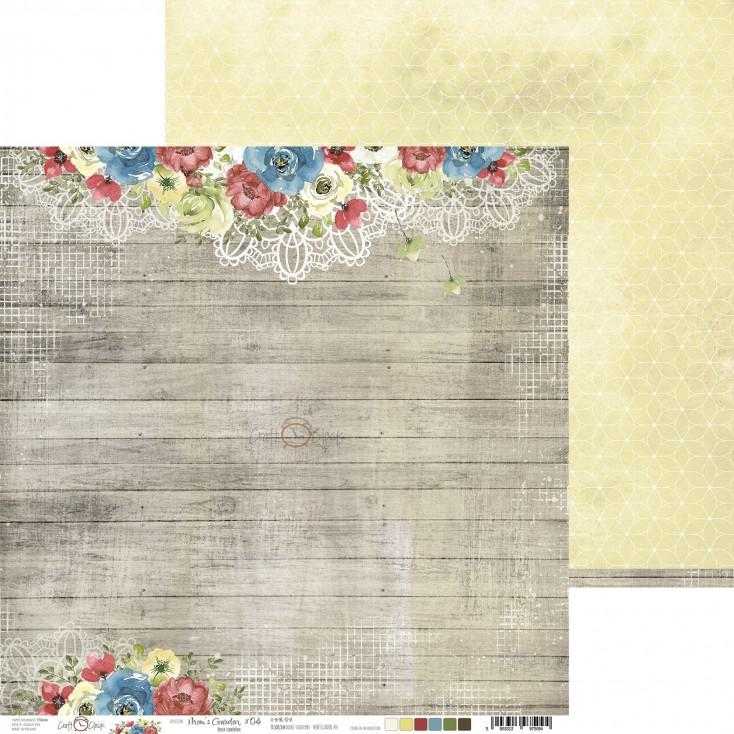 Scrapbooking paper - Craft O Clock - Mom's Garden - 04
