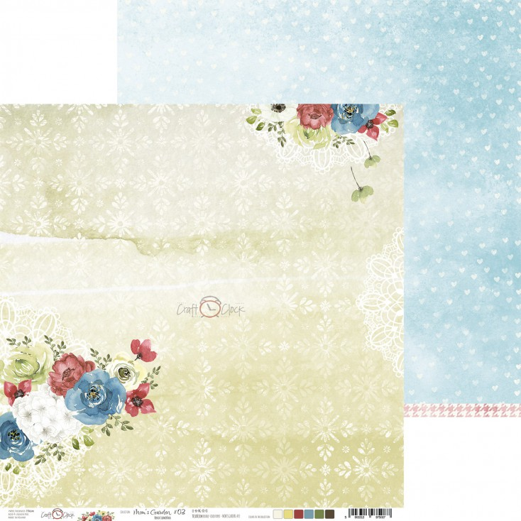 Scrapbooking paper - Craft O Clock - Mom's Garden - 03