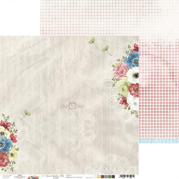 Scrapbooking paper - Craft O Clock - Mom's Garden - 02