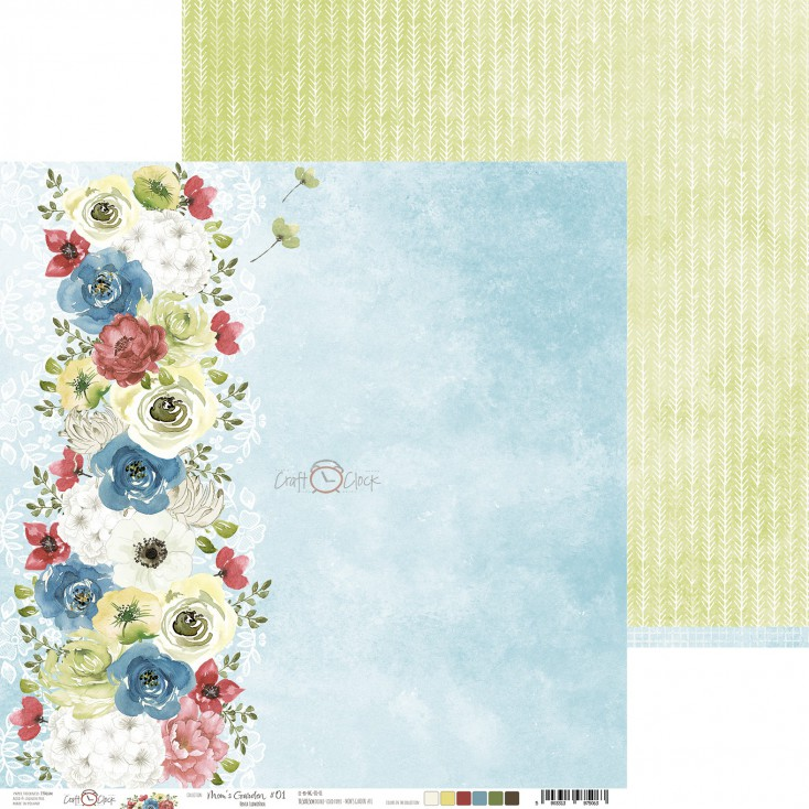 Scrapbooking paper - Craft O Clock - Mom's Garden - 01