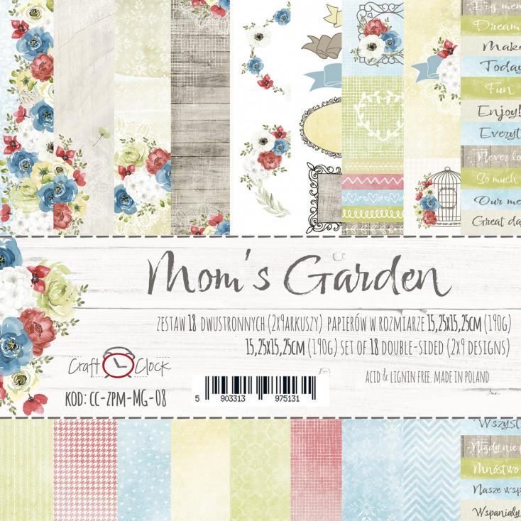 Mały bloczek papierów do tworzenia kartek i scrapbookingu - Craft O Clock - Mom's Garden