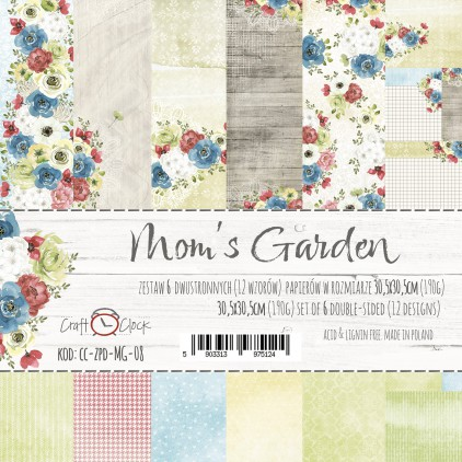 Set of scrapbooking papers - Craft O Clock - Mom's Garden