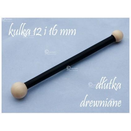 Dłutko kulkowe, drewniane do modelowania 12 i 16 mm