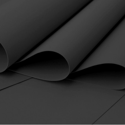Foamiran, artistic foam - 0,6 mm - black