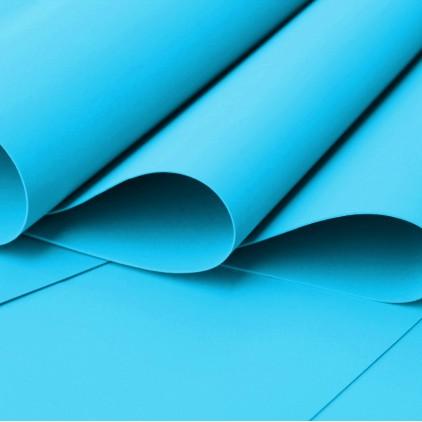 Foamiran, pianka artystyczna - 0,6 mm - niebieski