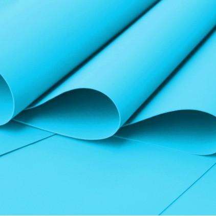 Foamiran, pianka artystyczna - 0,6 mm - jasny niebieski