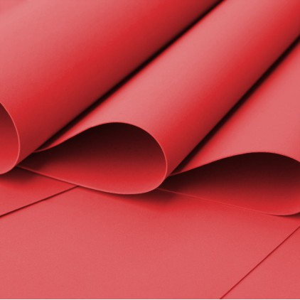 Foamiran, artistic foam - 0,6 mm - red
