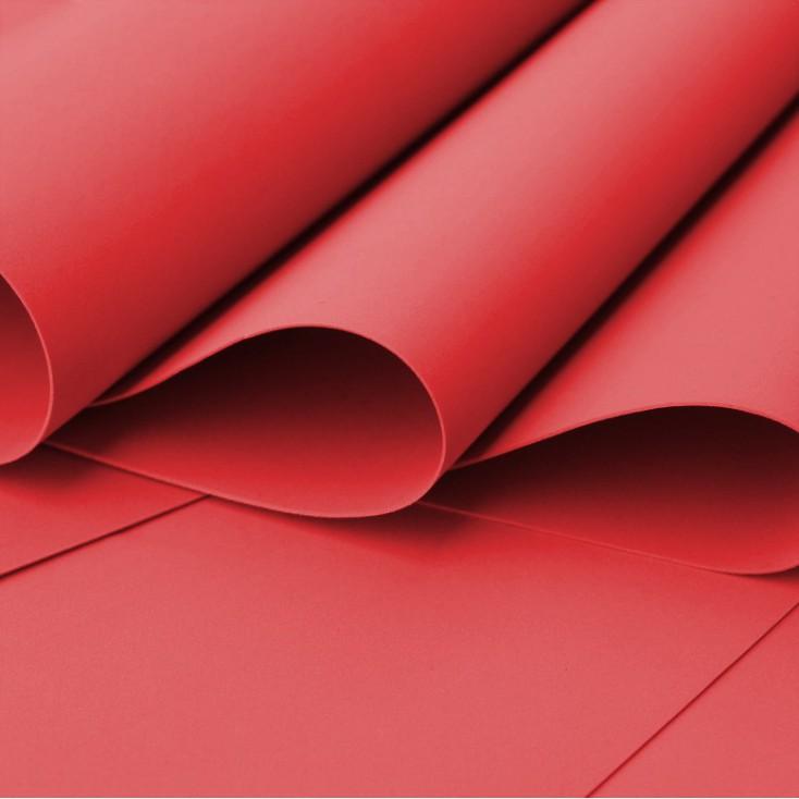 Foamiran, pianka artystyczna - 0,6 mm - czerwona