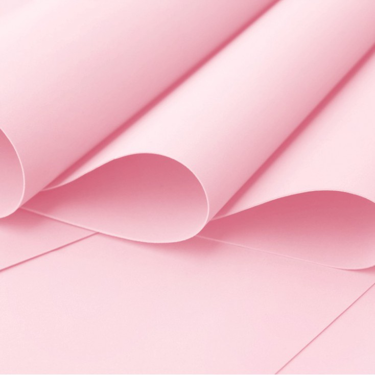 Foamiran, artistic foam - 0,6 mm - light pink