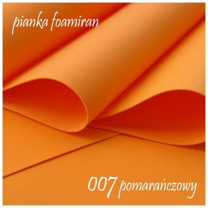 Foamiran, pianka artystyczna - 0,6 mm - pomarańczowa