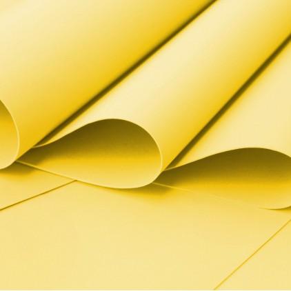Foamiran, pianka artystyczna - 0,6 mm - żółta
