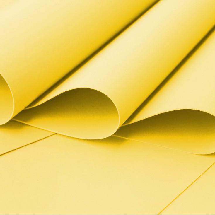 Foamiran, artistic foam - 0,6 mm - yellow