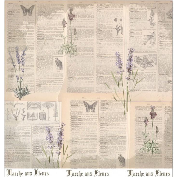 Scrapbooking paper - La Blanche - Garten 02