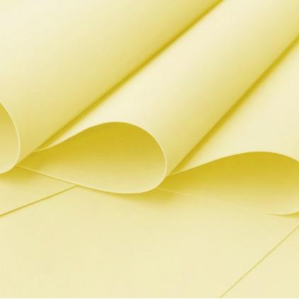 Foamiran, pianka artystyczna - 0,6 mm - cytryna