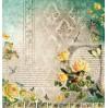Papier z żółtą różą - Papier do scrapbookingu - La Blanche - Dream Garden 02
