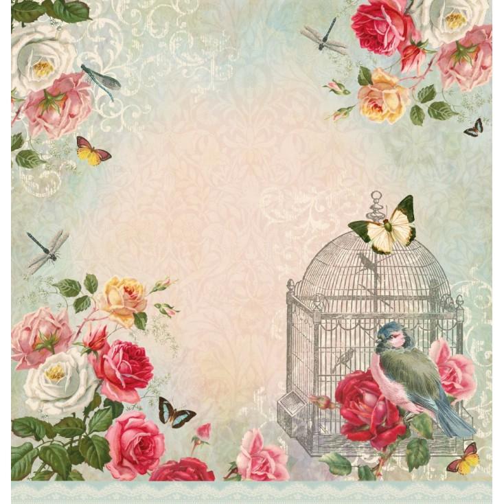 Scrapbooking paper - La Blanche - Dream Garden 03