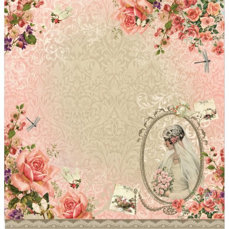 Scrapbooking paper - La Blanche - Dream Garden 04
