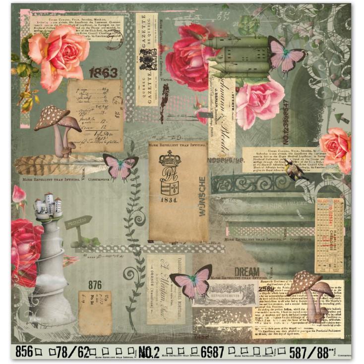 Scrapbooking paper - La Blanche - Fantasy 01