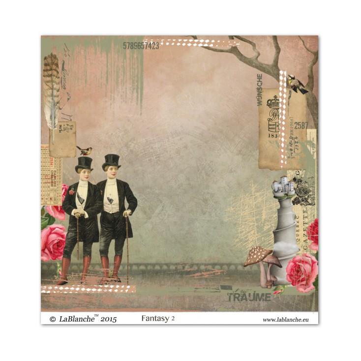 Scrapbooking paper - La Blanche - Fantasy 02
