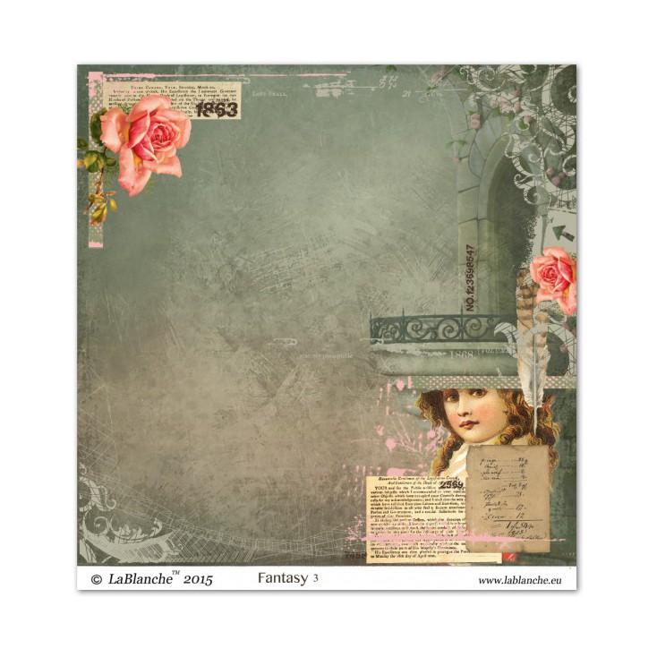 Papier do scrapbookingu - La Blanche - Fantasy 03