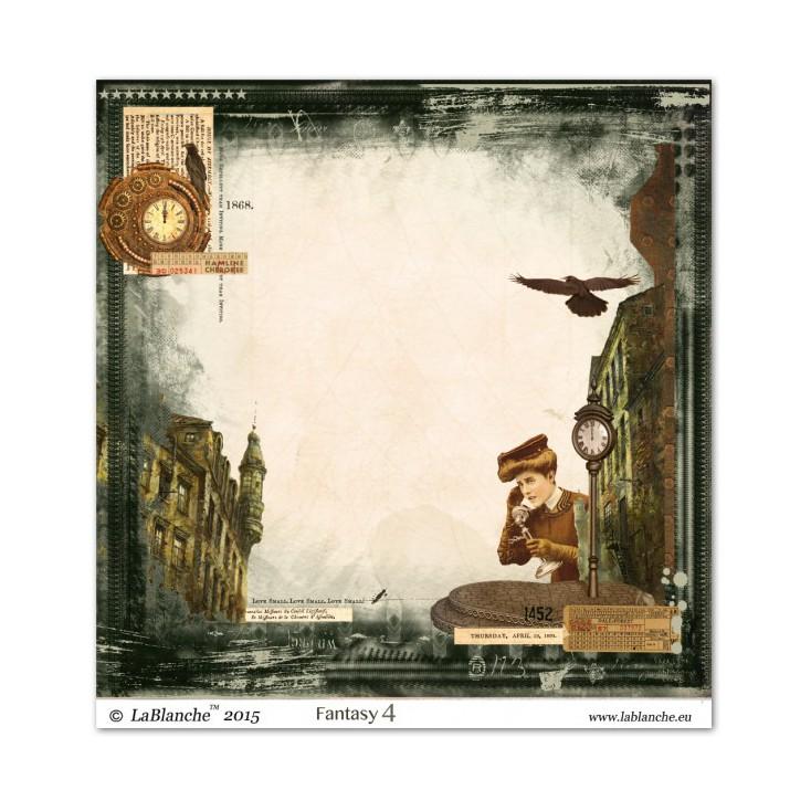Papier do scrapbookingu - La Blanche - Fantasy 04
