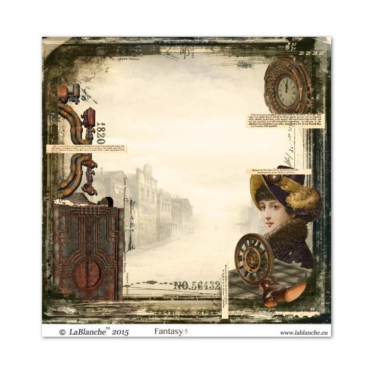 Scrapbooking paper - La Blanche - Fantasy 05
