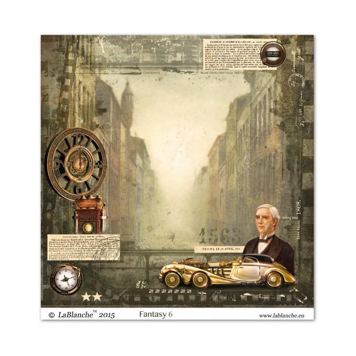 Scrapbooking paper - La Blanche - Fantasy 06
