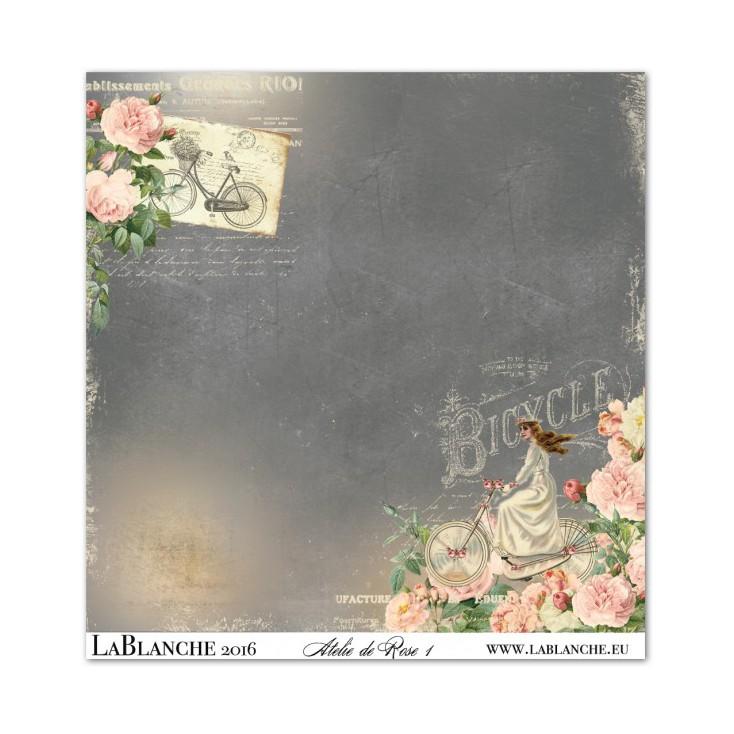 Scrapbooking paper - La Blanche - Atelie de Rose 01