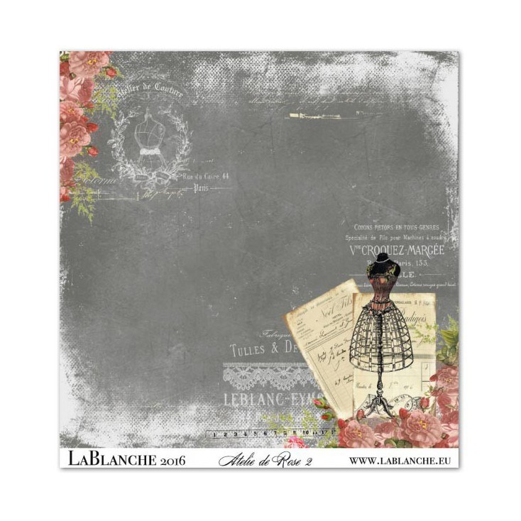 Papier do scrapbookingu - La Blanche - Atelie de Rose 02
