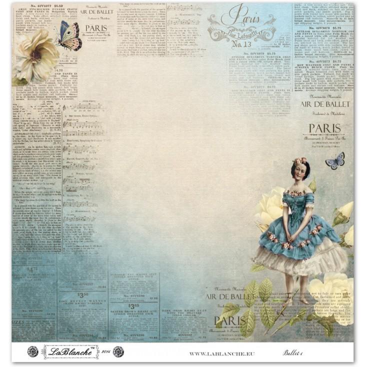 Papier do scrapbookingu - La Blanche - Ballet 01