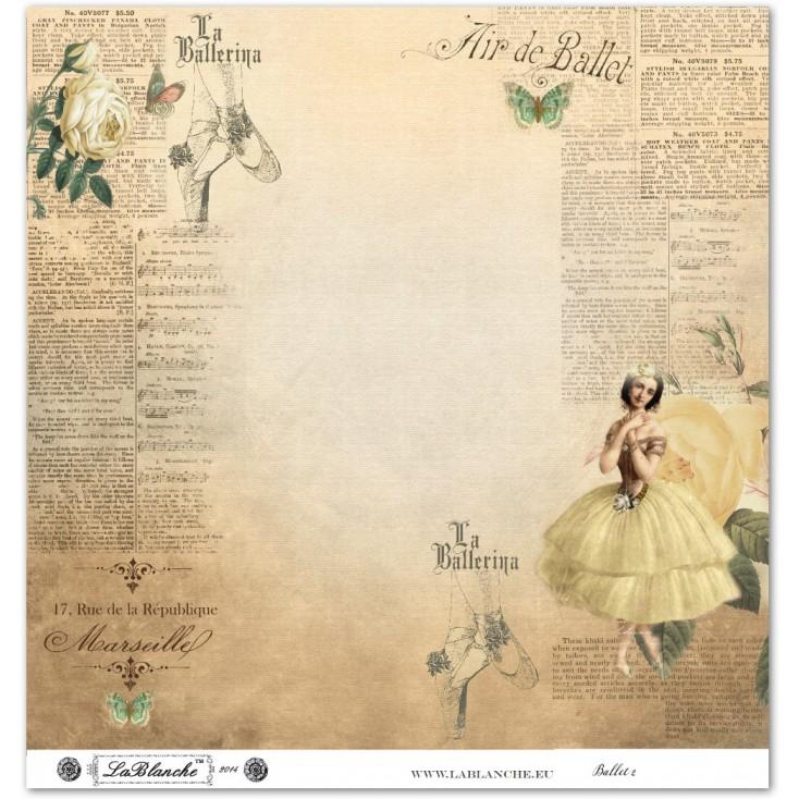 Scrapbooking paper - La Blanche - Ballet 02