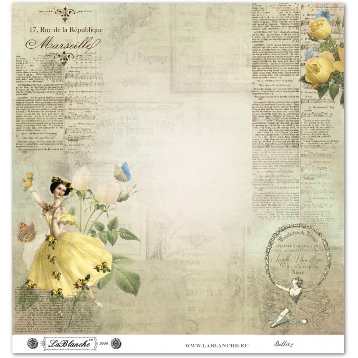 Scrapbooking paper - La Blanche - Ballet 03