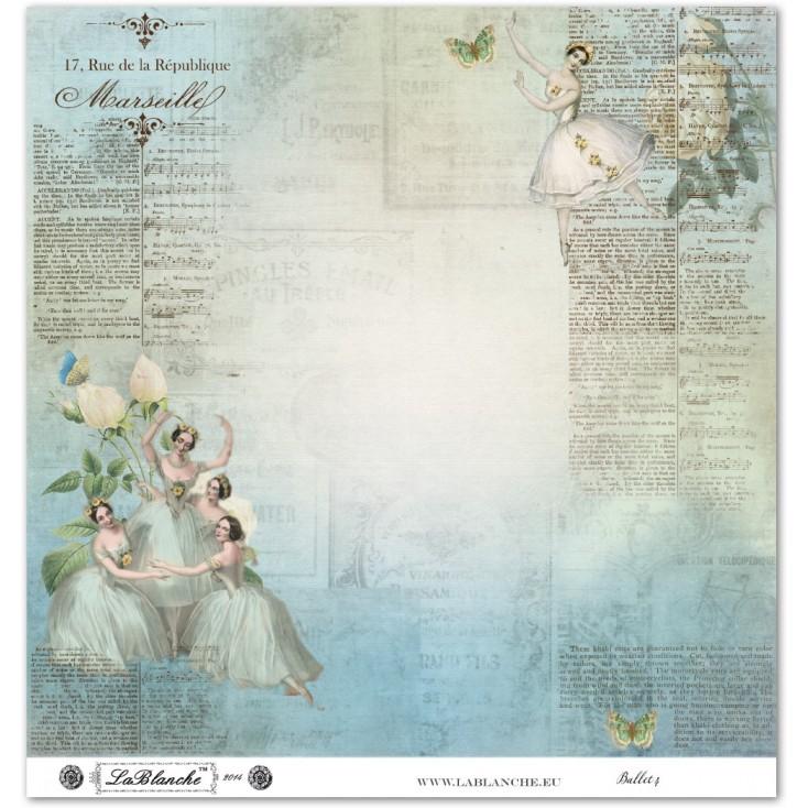 Papier do scrapbookingu - La Blanche - Ballet 04